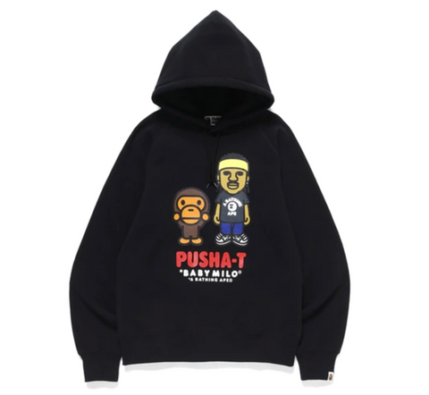 A Bathing Ape Pusha-T x BAPE Hoodie, Black