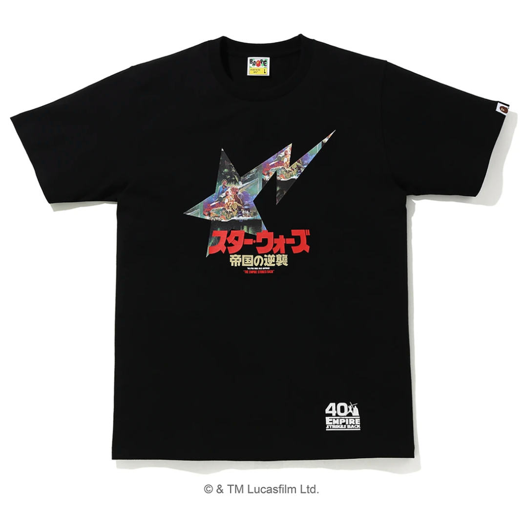 A Bathing Ape x Star Wars BAPESTA T-Shirt, Black