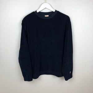 Champion Europe Reverse Weave Crewneck Sweatshirt, Navy