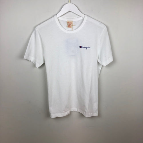 Champion Europe Reverse Weave Script Chest Logo S/S T-Shirt, White
