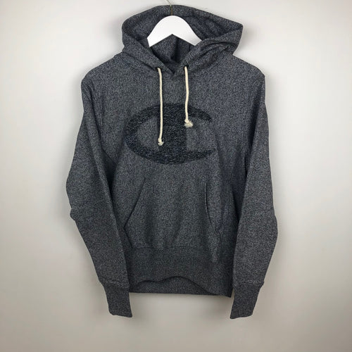 Champion Europe Reverse Weave Hooded Sweatshirt, Black Heather