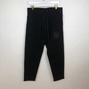 Robert Geller RG Track Pants, Black/Clay