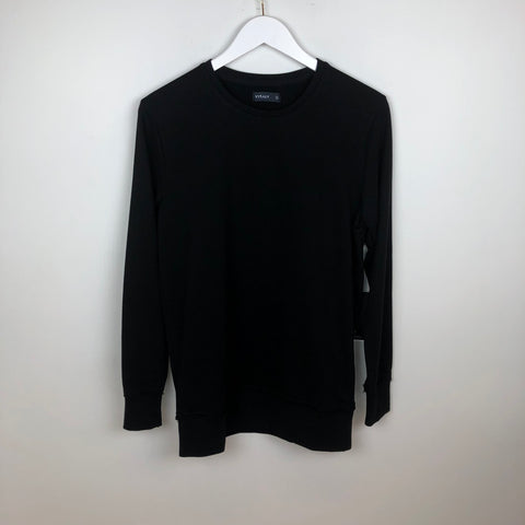 Vitaly New Crew L/S T-Shirt, Black