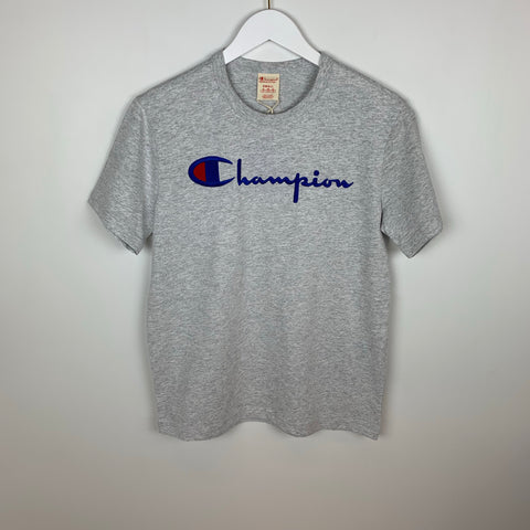 Champion Europe Reverse Weave Chest Weave Script S/S T-Shirt, Oxford Gray