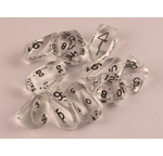 10 piece Hybrid Translucent dice - Clear