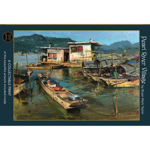 Pearl River Village, 500-Piece Jigsaw Puzzle