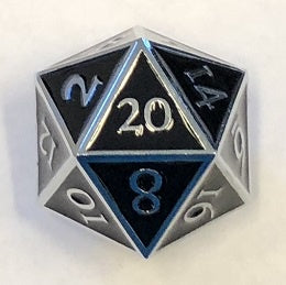 Giant Metal Black Enamel with silver edges + font 35mm D20