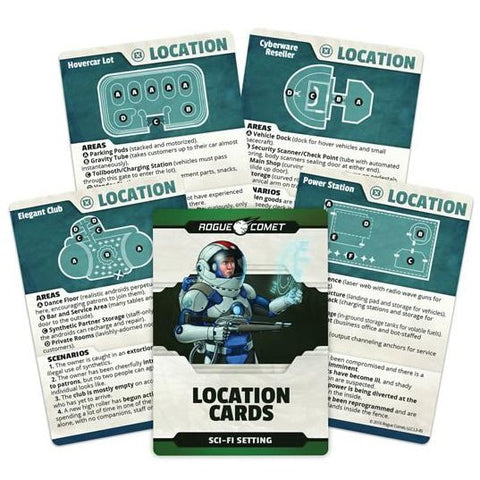 Location Cards Sci-Fi Setting