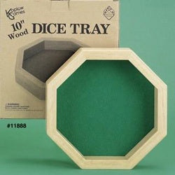 10 Inch Octagon Wood Dice Tray original