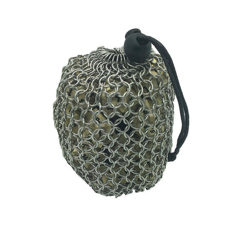 Chainmail Dice Bag: Silver