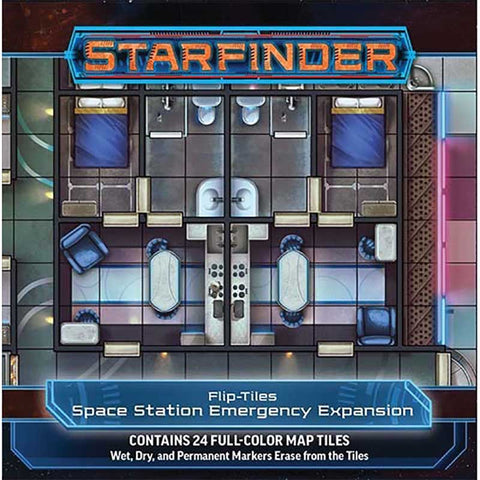 Starfinder Flip Mat Space Station Emergency Expedition [PZO7502]