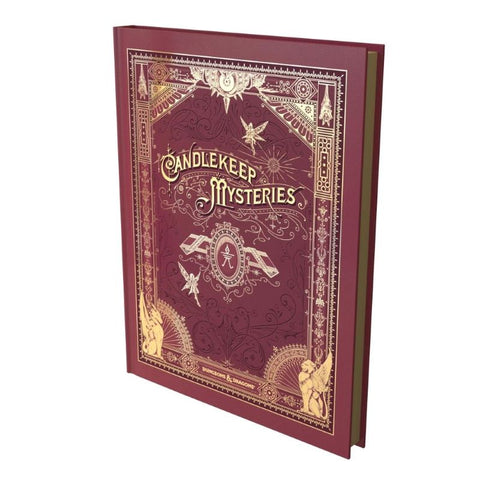 Candlekeep Mysteries alternate cover D&D Module at an angle.
