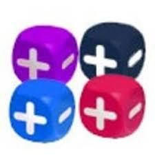 Squishy Fudge Dice multicolor 4D6 Dice