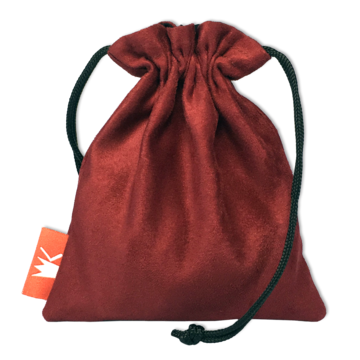 Red King Dice Bag: Red Suede Pouch