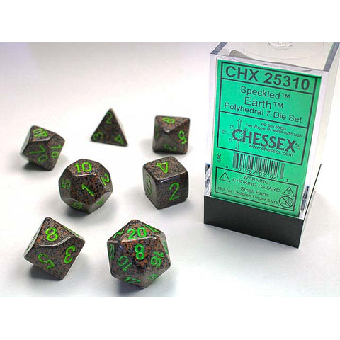 Speckled Earth 7 Dice Set [CHX25310]