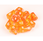 10 piece Hybrid Translucent dice - Orange