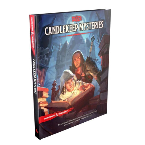 Candlekeep Mysteries regular cover D&D Module at an angle.