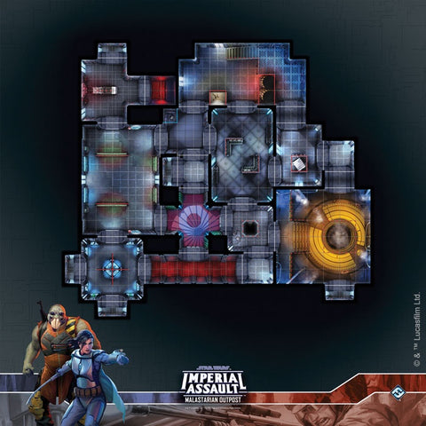 Star Wars - Imperial Assault: Raid Map - Malastarian Outpost