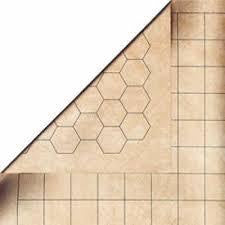 Reversible Battlemat Squares & Hexes 23.5 x 26 inches