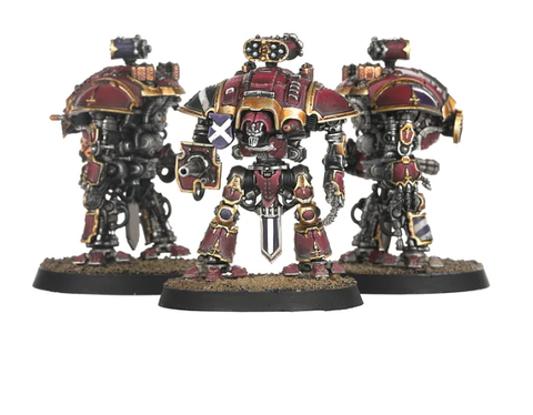 Questoris Knights with Thunderstrike Gauntlets and Rocket Pods - Adeptus Titanicus