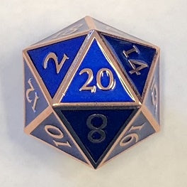 Giant Metal Blue Enamel with copper edges + font 35mm D20