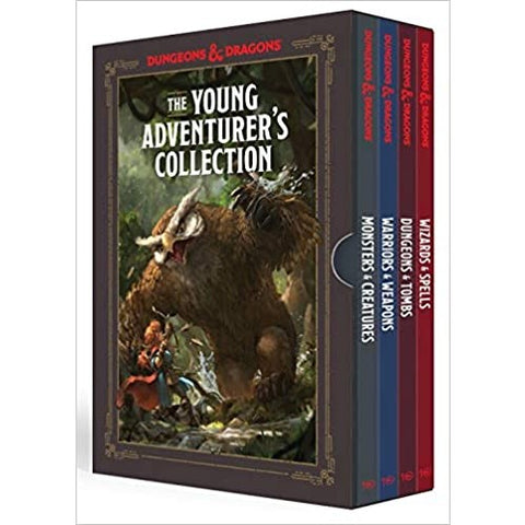 The Young Adventurer's Collection: Monsters & Creatures, Warriors & Weapons, Dungeons & Tombs, and Wizards & Spells