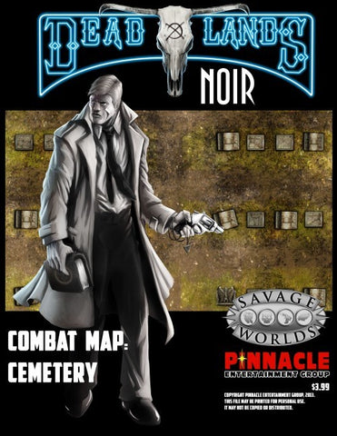 Deadlands Noir Map Cemetery/Crypt