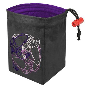 Red King Dice Bag: Suede Purple Fantastiute Cthulhus