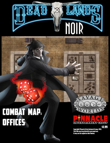 Deadlands Noir Combat Maps - Offices/Warehouses/Theatre