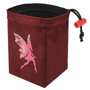 Red King Dice Bag: Suede Red Fairy
