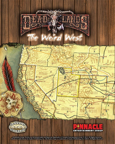 Deadlands Stone and a Hard Place Weird West map