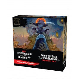 D&D Icons of the Realms Waterdeep Dragon Heist - City of the Dead Statues & Monuments Premium Set [WZK73112]