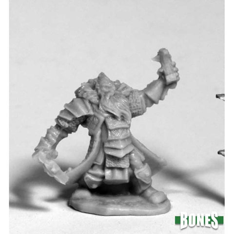 Thain Grimthorn, male Dwarf Cleric (plastic) [Reaper 77213]