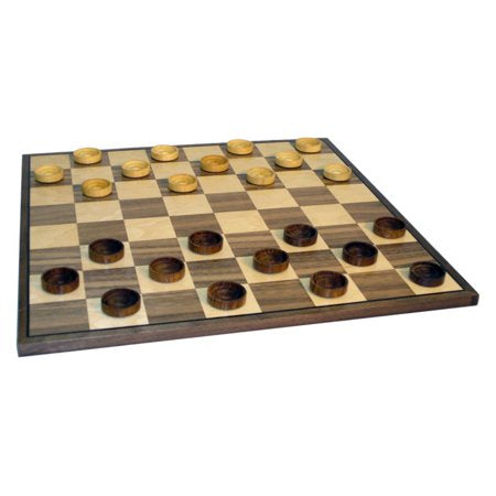 Wooden Board and Checkers