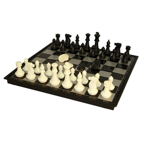 "14"" Folding Magnetic Chess & Checkers Board"