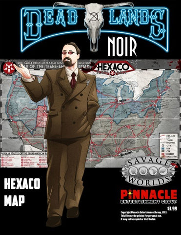 Deadlands Noir Combat Map New Orleans/Hexaco