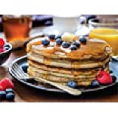 Foodie Puzzle: Blueberry and Raspberry Pancakes