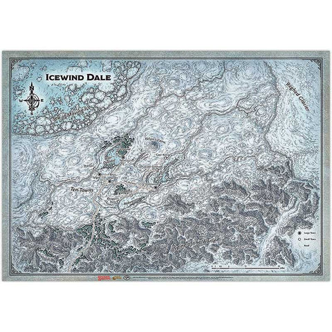 "D&D Icewind Dale Ice Caverns Map (31""x21"") [GF9BB628]"
