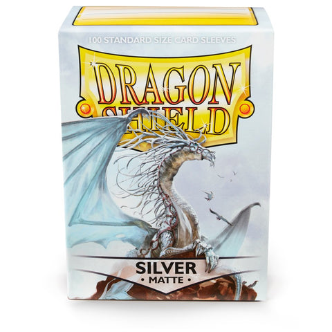 Dragon Shield Matte Silver 100 Count Sleeves