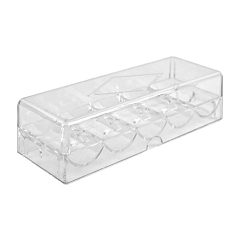 Acrylic Chip Tray 100 Chips W/ Lid
