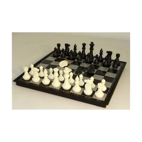 "CS 14"" Mag Chess & Checkers, Folding metal-plastic"
