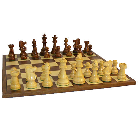 "Chess Set 3"" Sheesham French/15"" walnut/maple"