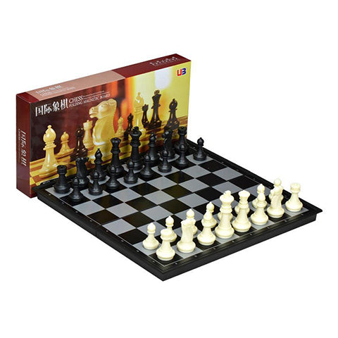 Chess & Checkers folding magnetic board