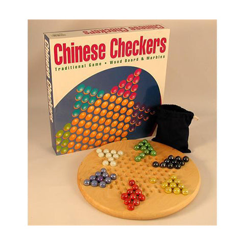 Chinese Checkers: Wood and Marbles