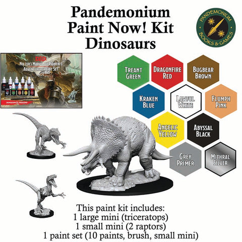 Paint Now! Miniature Painting Kit for Kids - Dinosaurs