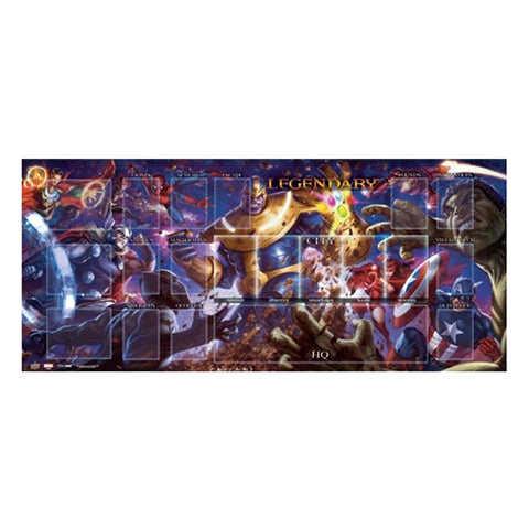 "MARVEL: ""LEGENDARY"" DECK BUILDING GAME - THANOS VS THE AVENGERS PLAYMAT"