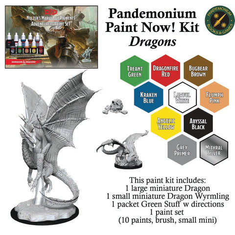 Paint Now! Miniature Painting Kit (age 14+) - Dragons