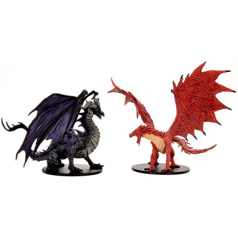 PF Premium Set: City of Lost Omens - Adult Red & Black Dragons [WZK97502]