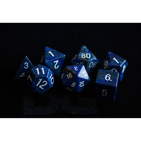 16mm Lapis Lazuli Set of 7 Gemstone dice