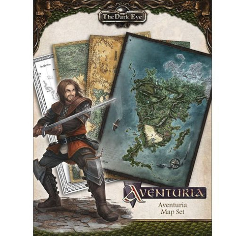 The Dark Eye Aventuria Map Set